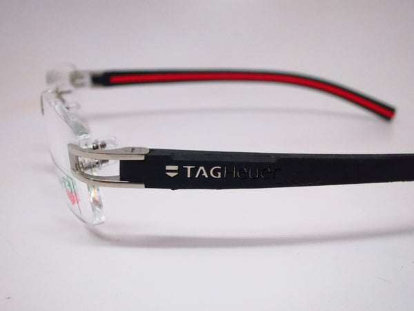 Tag Heuer TH 7645 002 Silver with Black & Red Track-S Eyeglasses - Eye Heart Shades - Tag Heuer - Eyeglasses - 5