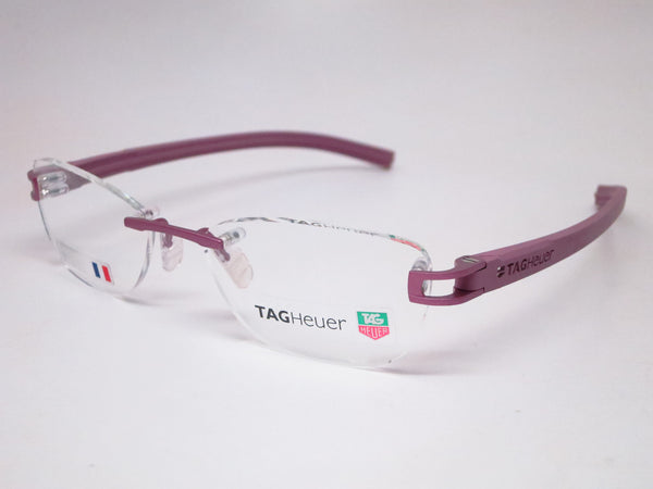 Tag Heuer TH 7646 016 Purple Track-S Rimless Eyeglasses - Eye Heart Shades - Tag Heuer - Eyeglasses - 1