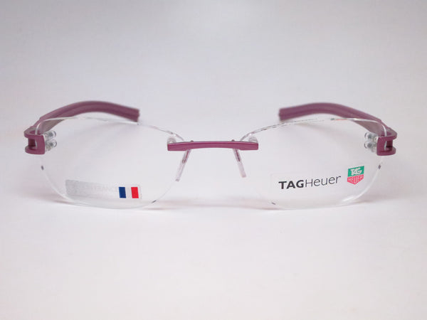 Tag Heuer TH 7646 016 Purple Track-S Rimless Eyeglasses - Eye Heart Shades - Tag Heuer - Eyeglasses - 2