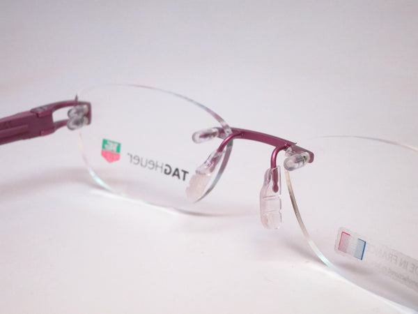 Tag Heuer TH 7646 016 Purple Track-S Rimless Eyeglasses - Eye Heart Shades - Tag Heuer - Eyeglasses - 3
