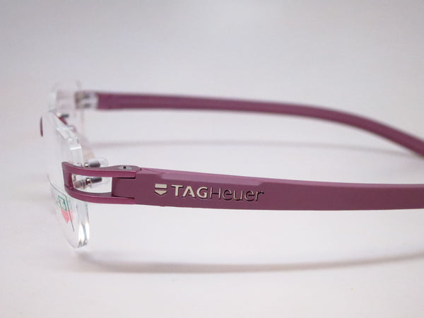 Tag Heuer TH 7646 016 Purple Track-S Rimless Eyeglasses - Eye Heart Shades - Tag Heuer - Eyeglasses - 5