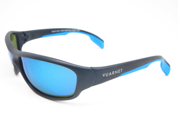 Vuarnet VL 0113 Matte Black Blue 0014 3126 Sunglasses - Eye Heart Shades - Vuarnet - Sunglasses - 1
