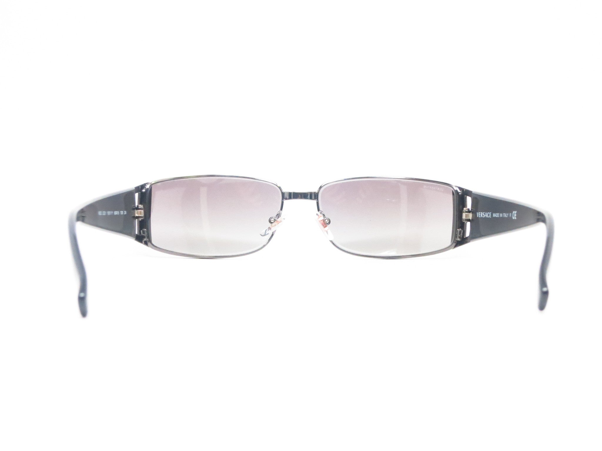 8006dd7cb5ce ... Versace VE 2021 Gunmetal 1001 11 Gunmetal Sunglasses - Eye Heart Shades  - Versace ...