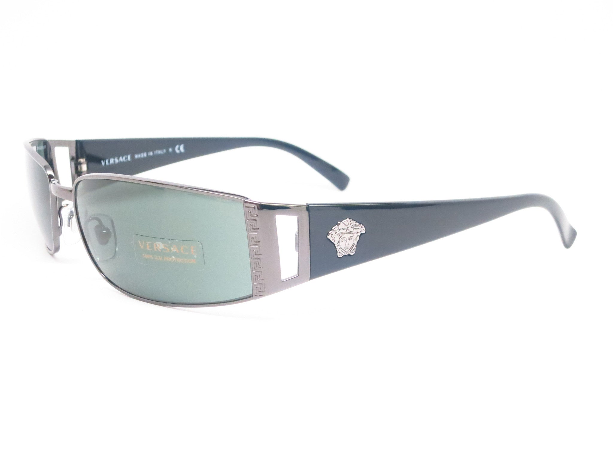 2a049aeb0440 Versace VE 2021 Pewter 1001 6 Sunglasses - Eye Heart Shades - Versace -  Sunglasses