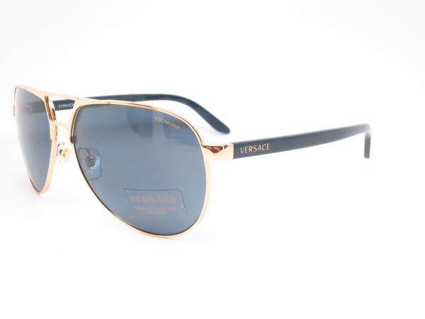 Versace VE 2142 Gold Polarized 1002/81 Sunglasses - Eye Heart Shades - Versace - Sunglasses - 1