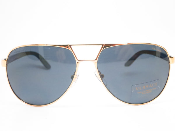 Versace VE 2142 Gold Polarized 1002/81 Sunglasses - Eye Heart Shades - Versace - Sunglasses - 2