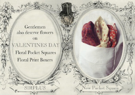 VALENTINES DAY TELEGRAM - pocket squares