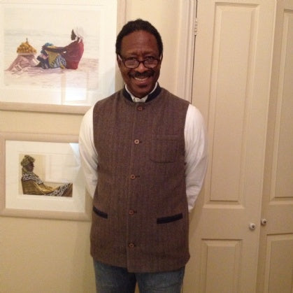 CLARKE PETERS RECEIVES SIR PLUS JERKIN FOR CHRISTMAS
