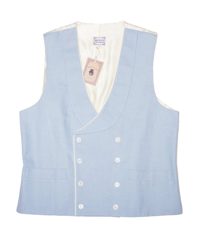 Double Breasted Spring Sky Waistcoat