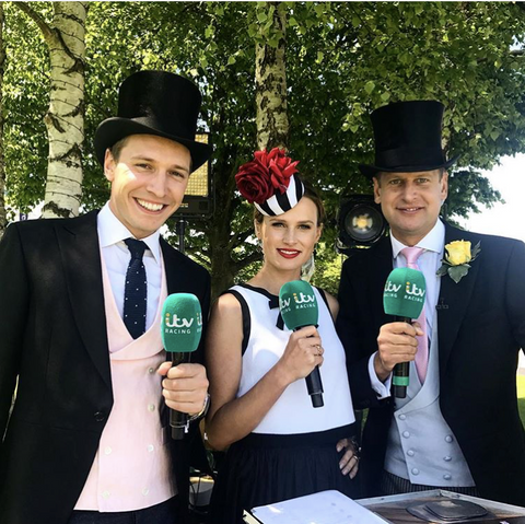 Oli Bell Reporting For ITV at Ascot
