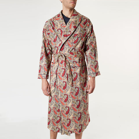 Men's Paisley Dressing Gown