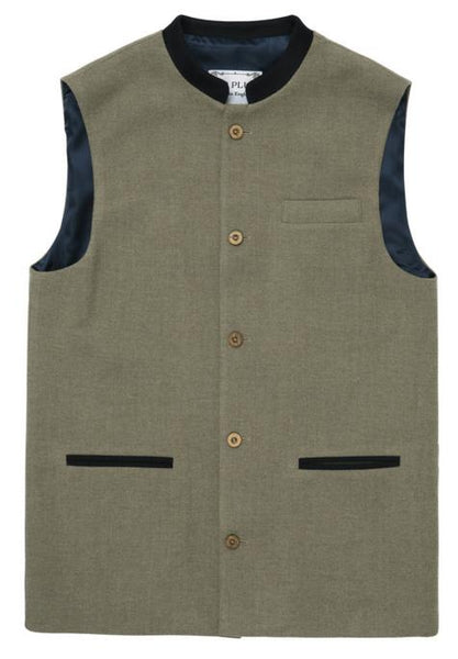 New slimmer collared waistcoats, the Wilberforce Nehru