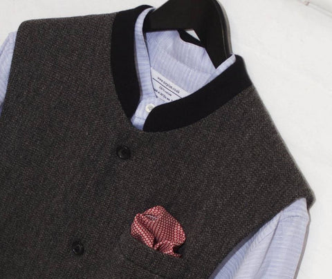 Layered Grandad Shirt with Nehru waistcoat