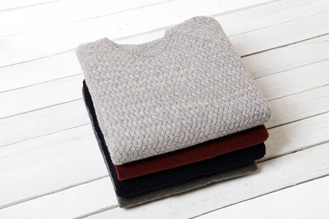 Stack of cashmere jumpers