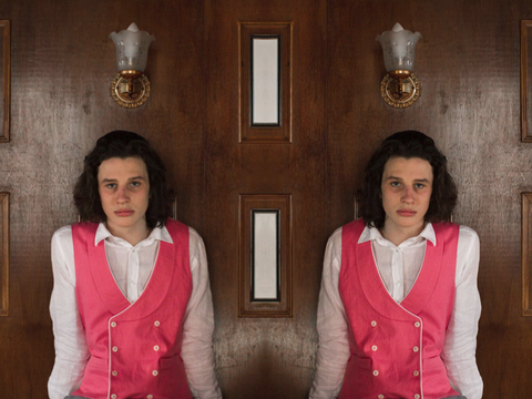 Pink Double Breasted waistcoat