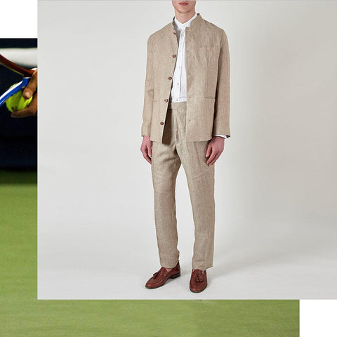 Wimbledon Dress Code: Linen Suit