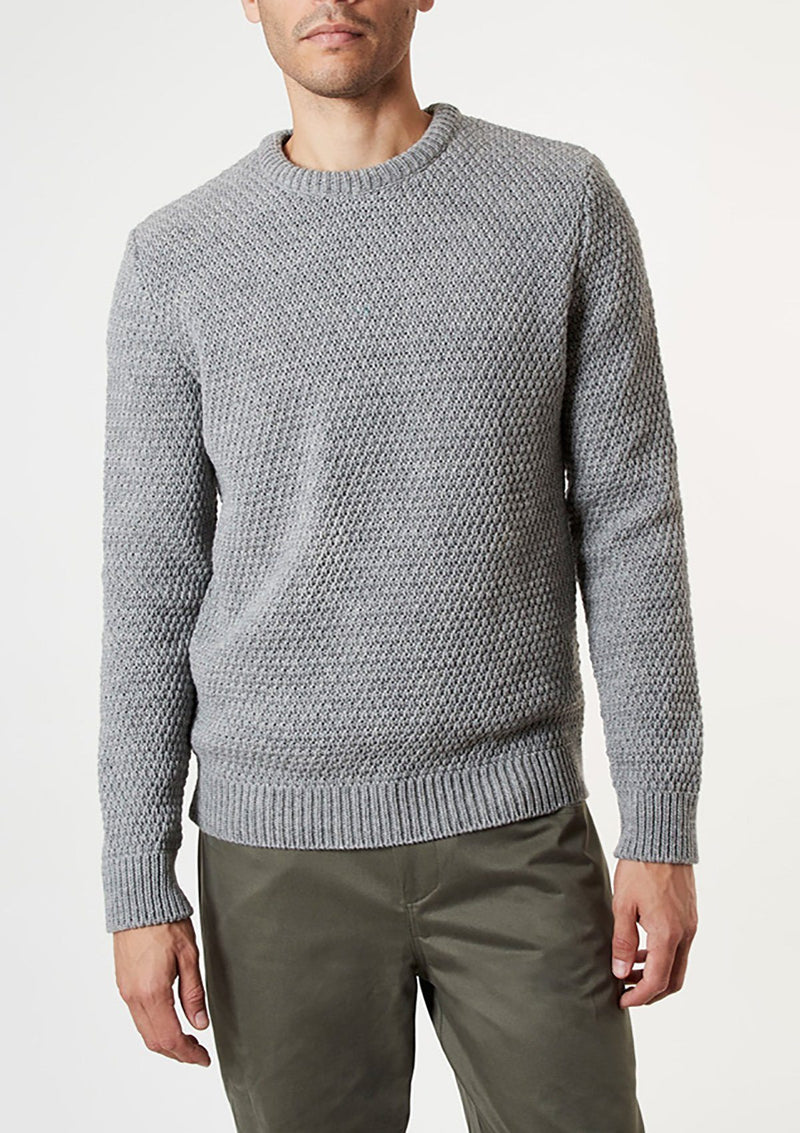 Grey Moss Stitch Jumper - SIRPLUS