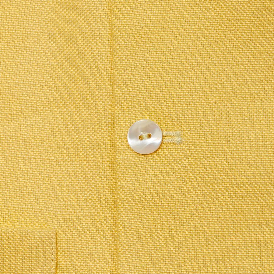 LEMON DOUBLE BREASTED WAISTCOAT - 100% Pure Linen, Double Breasted Waistcoats - Sir Plus