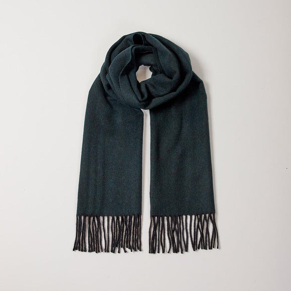GREEN MICRO CHECK SCARF - 100% Cashmere, Scarves - Sir Plus