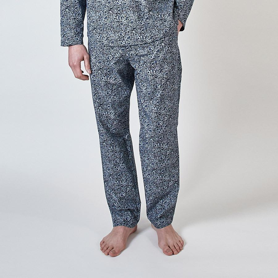 Blue Paisley Print PJ Trousers