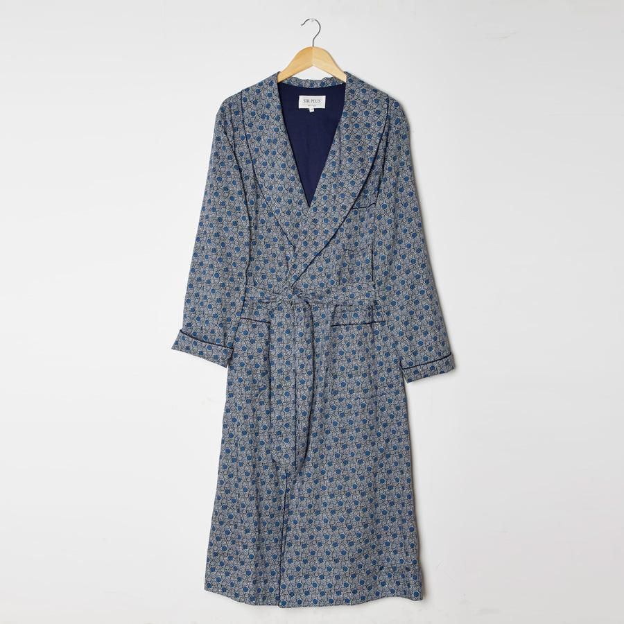 LIBERTY ACHILLES PRINT DRESSING GOWN - 100% Cotton, Dressing Gowns - Sir Plus