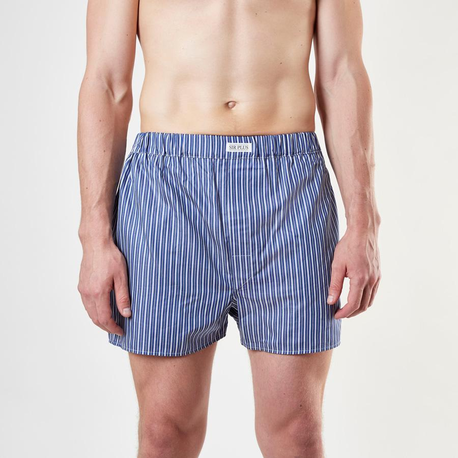 Navy Whitstable Stripe Boxers