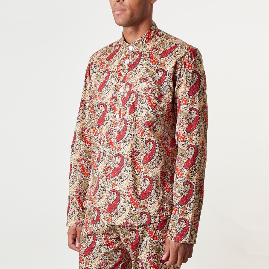 LIBERTY BOURTON PAISLEY PJ GRANDAD SHIRT - 100% Cotton, Pyjamas - Sir Plus