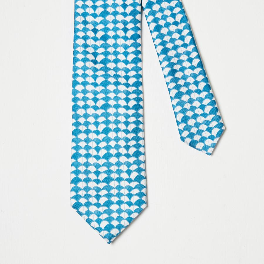 Blue Waves Silk Tie - Rose Electra Harris, Ties - SIRPLUS