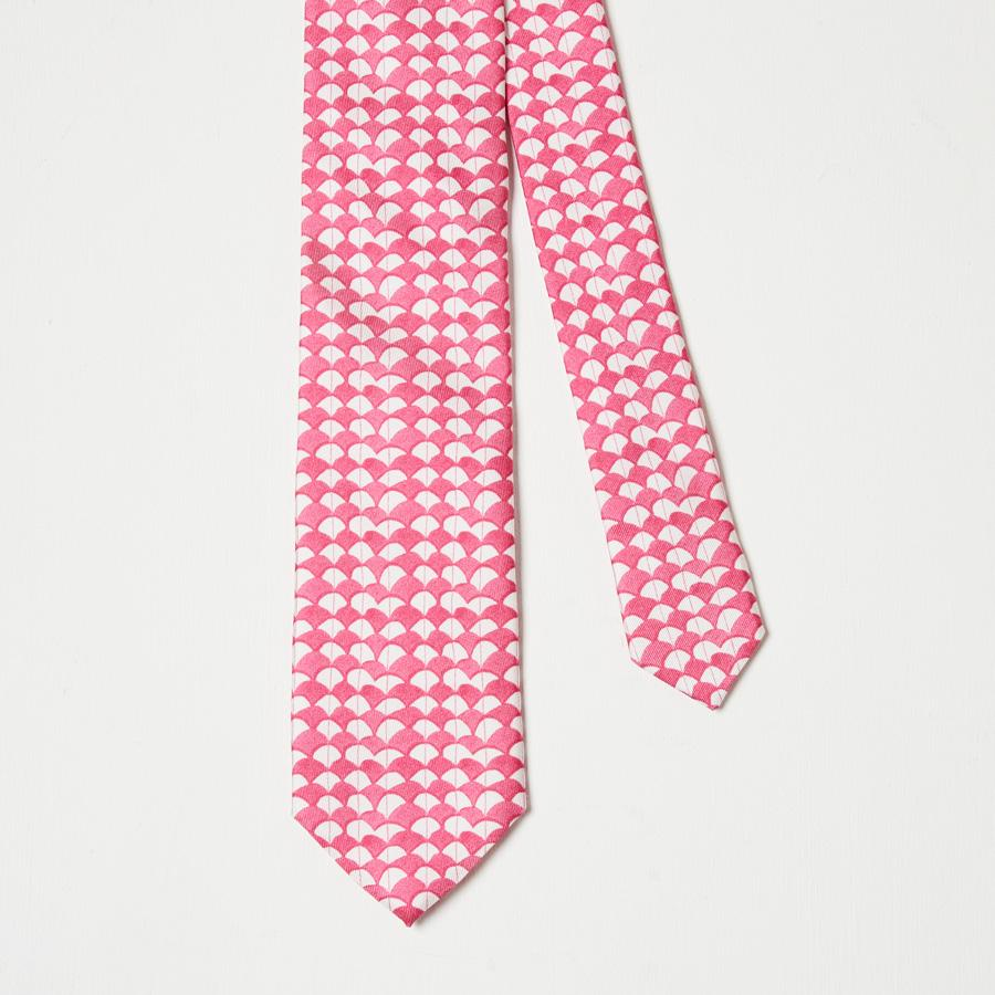 Pink Waves Silk Tie - Rose Electra Harris