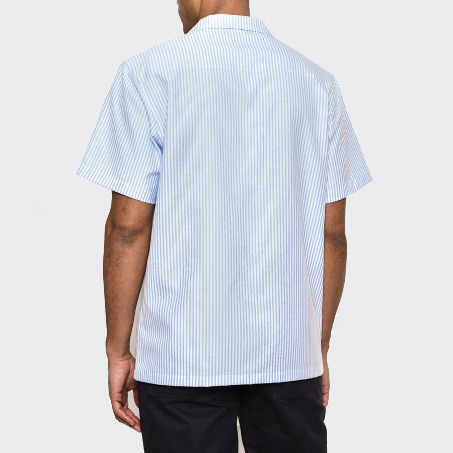 Blue Striped Cuban Shirt, Shirts - SIRPLUS