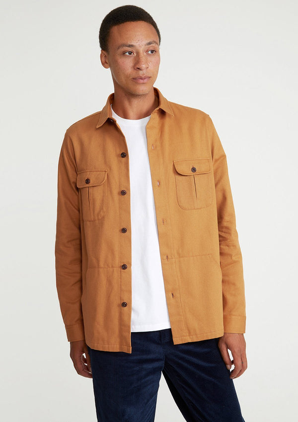 Amber Cotton Twill Overshirt