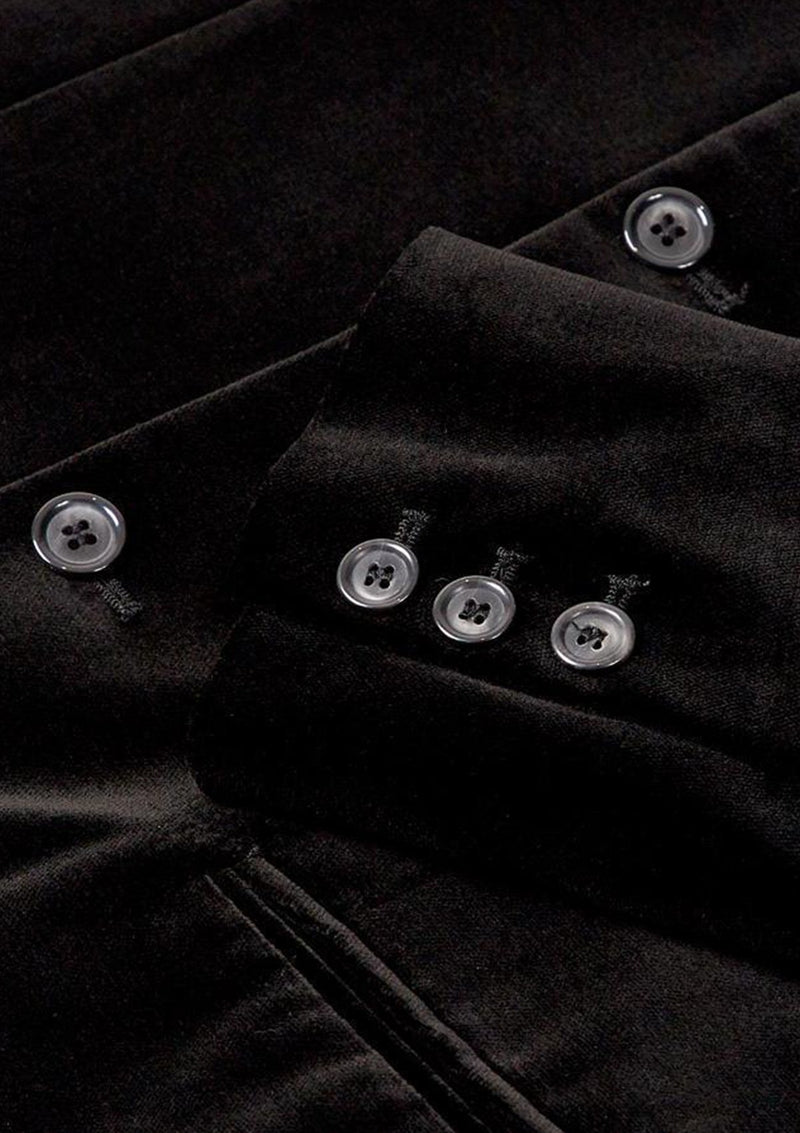 Black Velvet Nehru Jacket - SIRPLUS