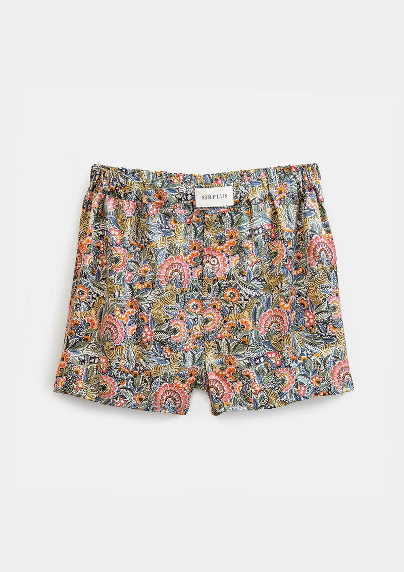 Milo Tiger Print Silk Boxer Shorts - Made with Liberty Fabric