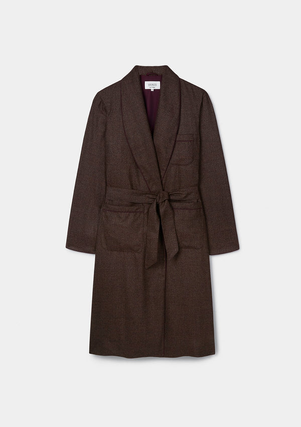 Brown Speckled Dressing Gown