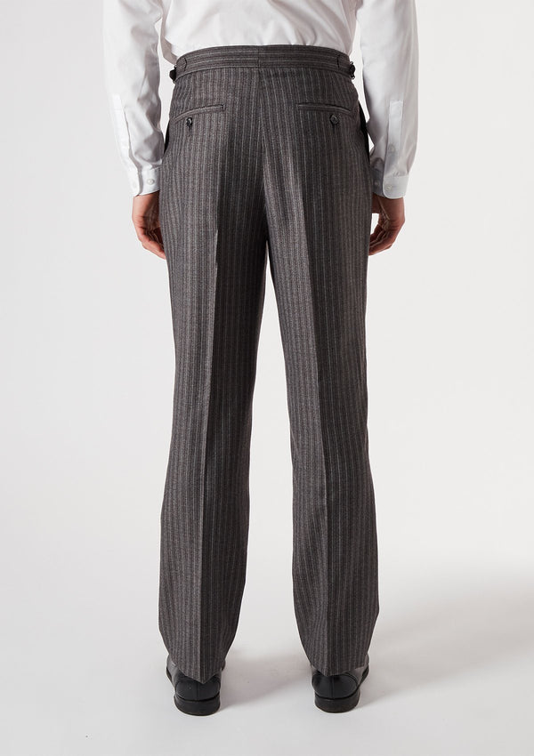 Charcoal Stripe Formal Trousers