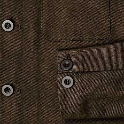 COCOA BROWN WORKMAN JACKET - 100% Cotton Twill