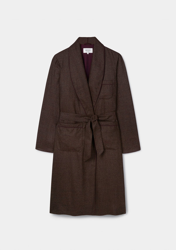 Cocoa Brown Cashmere Dressing Gown