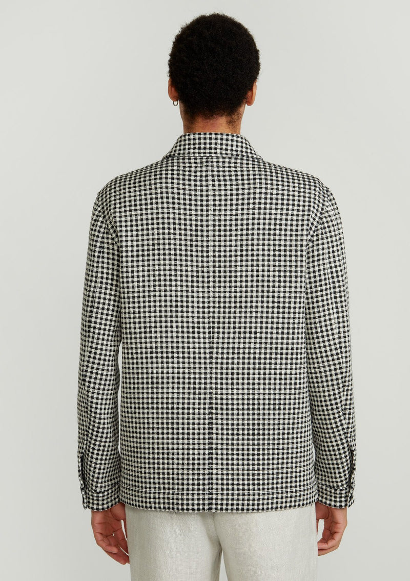 Cream Check Chore Jacket