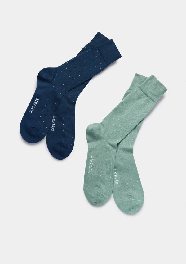 Navy Dot Organic Cotton Socks