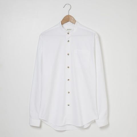 WHITE GRANDAD SHIRT - 100% Pure Cotton, Shirts - Sir Plus