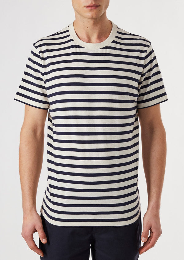 Ecru & Navy Stripe T-Shirt