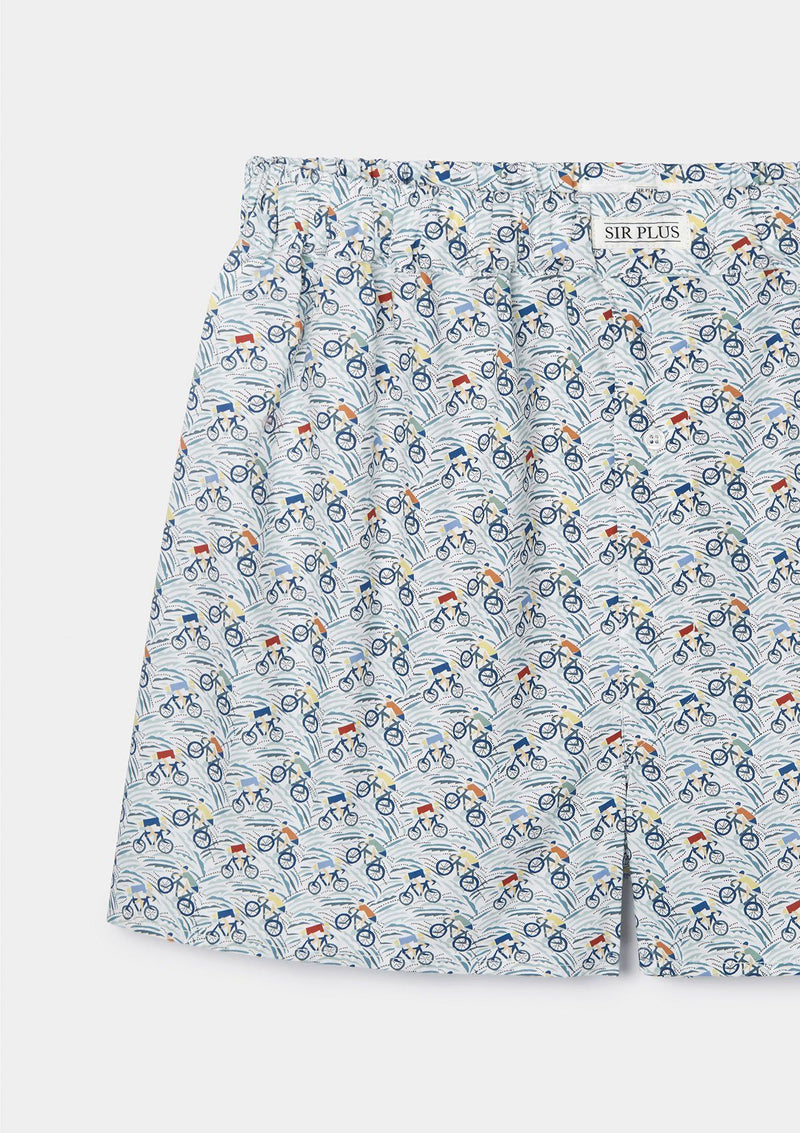 Grand Tour Print Boxer Shorts - Made With Liberty Fabric