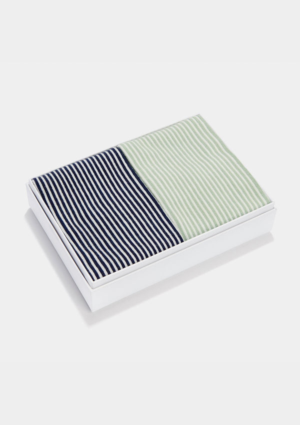 Organic Cotton Striped Socks Gift Box