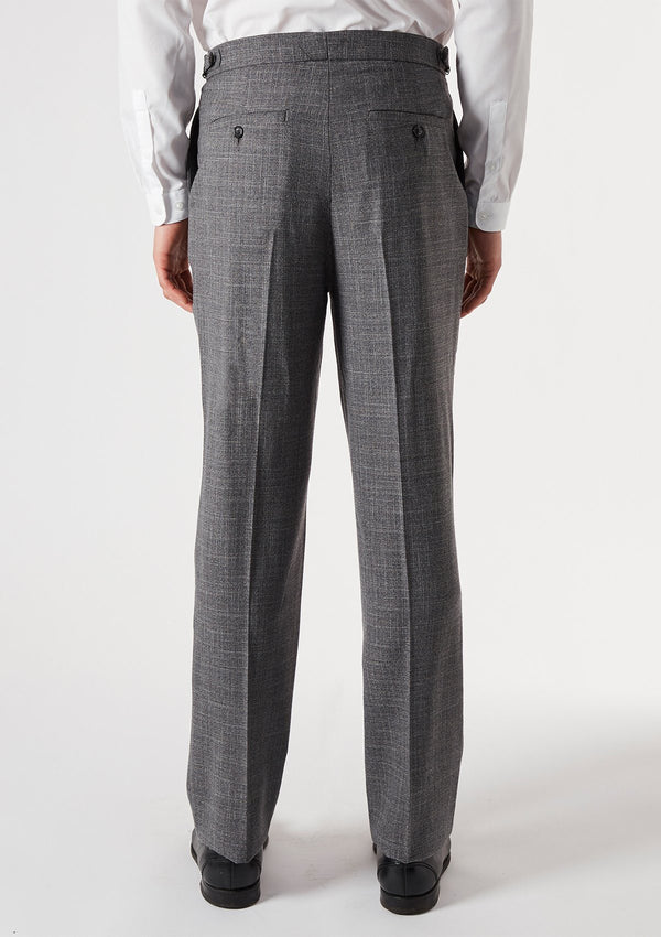 Grey Melange Formal Trousers
