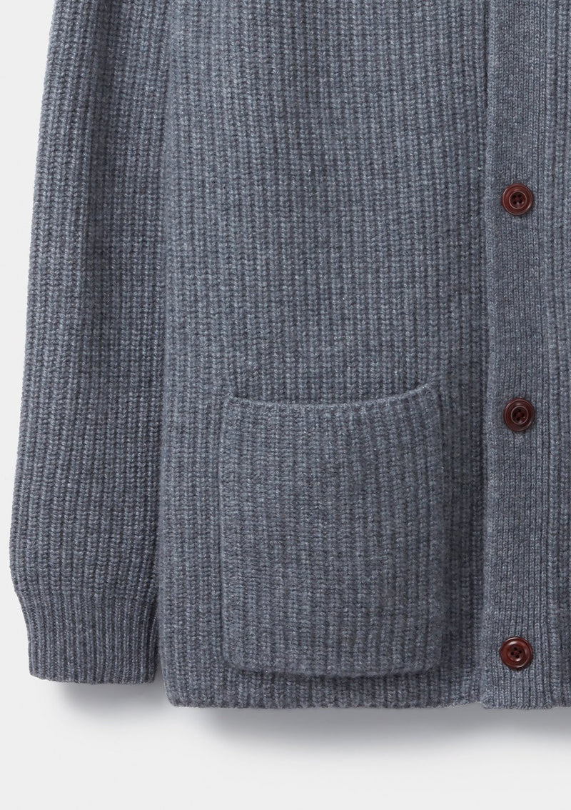 Grey Wool Cashmere Cardigan