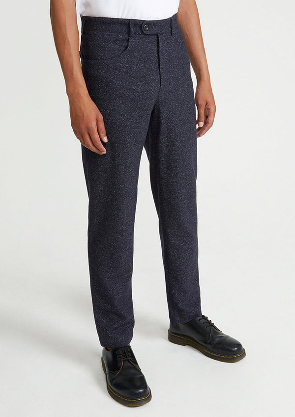 Grey Wool Silk Casual Trouser