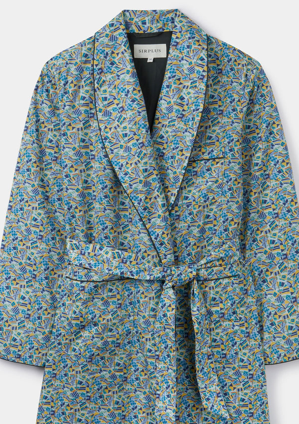 Harbour Breeze Print Dressing Gown - Made with Liberty Fabric