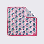 Pink Palm Silk Pocket Square - Rose Electra Harris