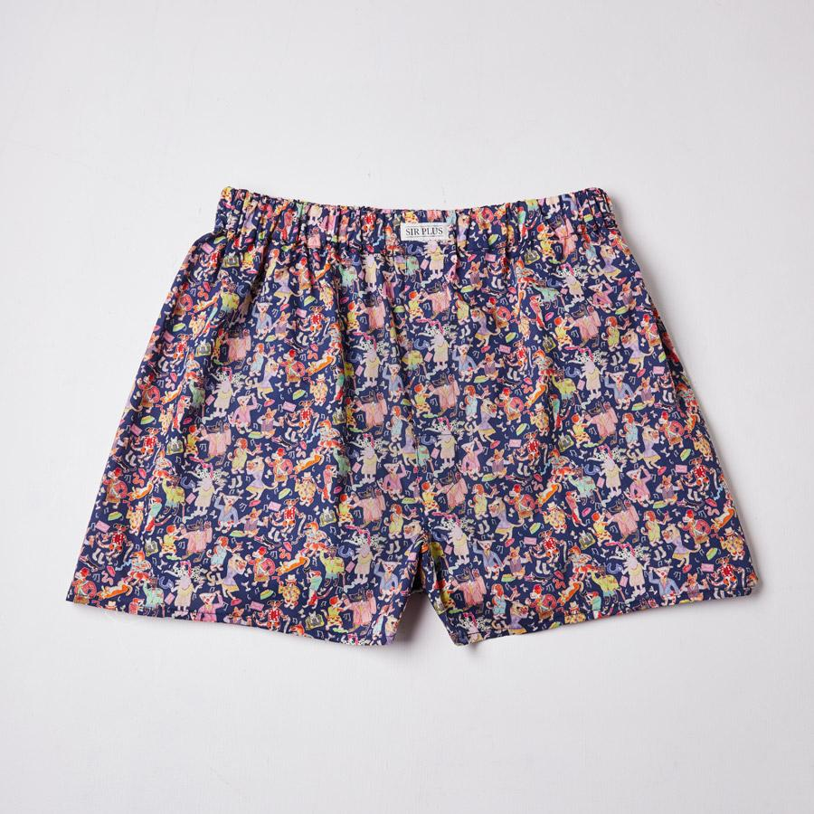 Blue Liberty Dog Print Boxers, Boxers - SIRPLUS