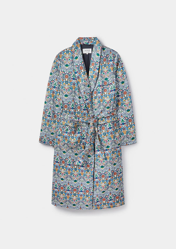 Morris' Allotment Print Dressing Gown - Made with Liberty Fabric